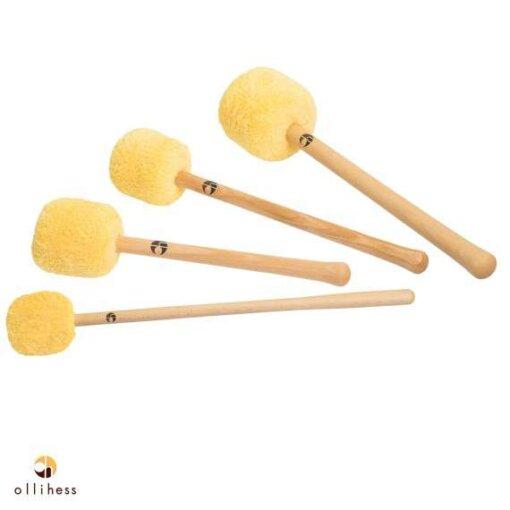 Ollihess Profi Gong Mallet Set in der Farbe Gelb