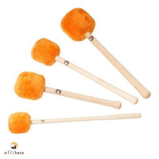 Ollihess Profi Gong Mallet Set in der Farbe Orange
