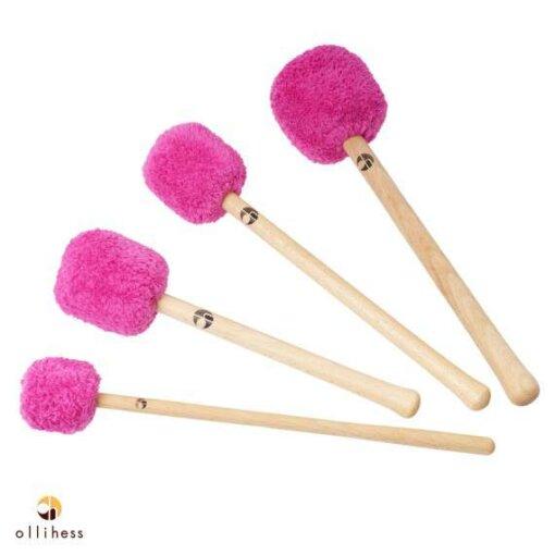 Ollihess Profi Gong Mallet Set in der Farbe Pink